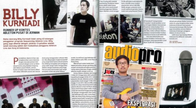 Crystaline Runner-up di Ableton Beat the clock competition